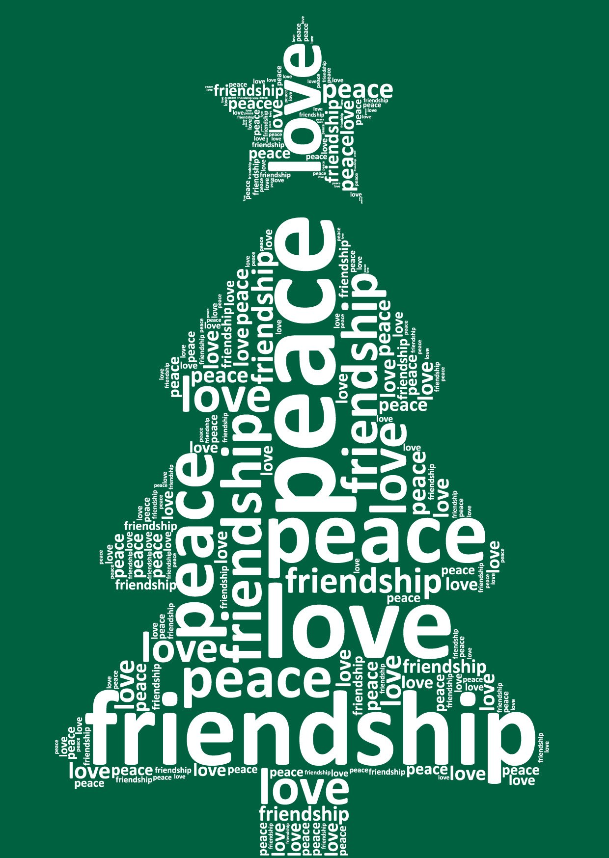 Christmas Card Tree Words Buzz Ideazz