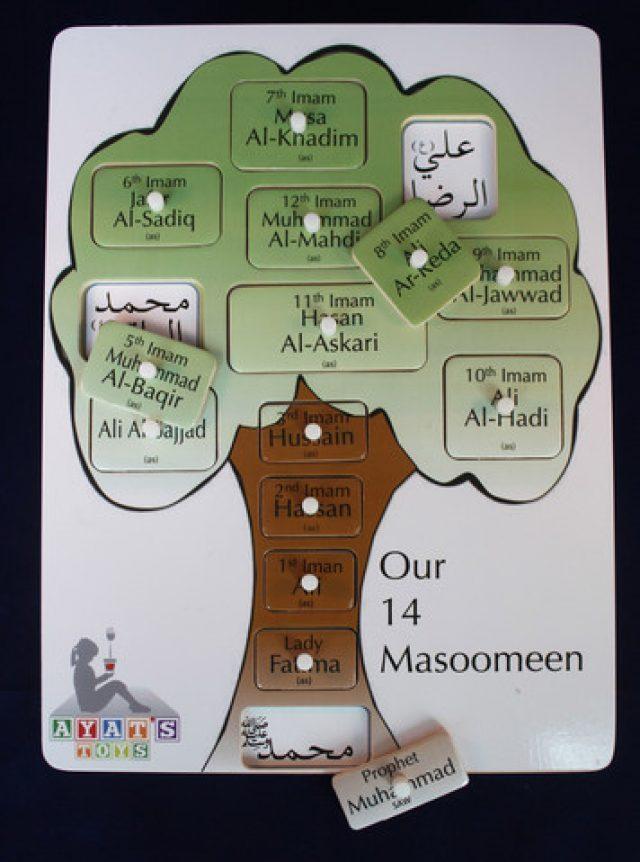 Our 14 Masoomeen Tree Peg Board Puzzle